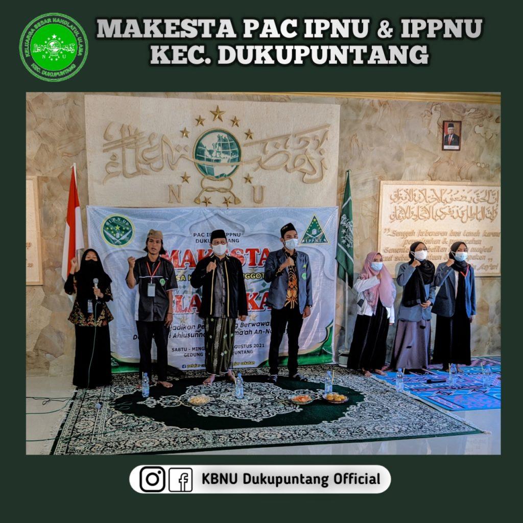 Pembukaan Makesta IPNU IPPNU Dukupuntang. Hadir Ahmad Yusuf Ketua PC IPNU Kabupaten Cirebon