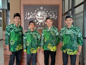 Ketua PC IPNU Kabupaten Cirebon Ahmad Yusuf bersama Ketua, Sekretaris dan Bendahara PW IPNU Jawa Barat Masa Khidmat 2021-2024